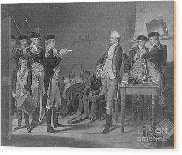 Death Warrant Of Major John Andre, 1780 Wood Print by Photo Researchers
