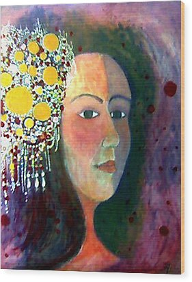 Wood Print featuring the painting Debutante by Monica Furlow