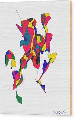 Definism Design 10 Wood Print by Darrell Black