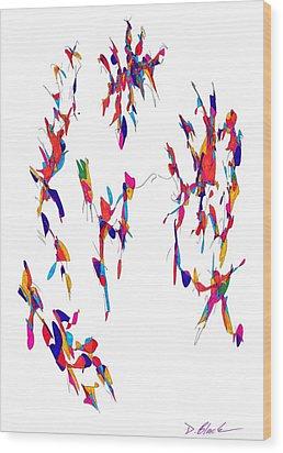 Definism Design 11 Wood Print by Darrell Black