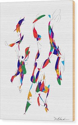 Definism Design 14 Wood Print by Darrell Black