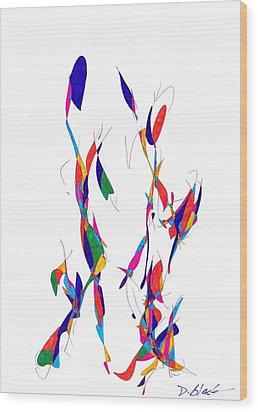 Definism Design 3 Wood Print by Darrell Black