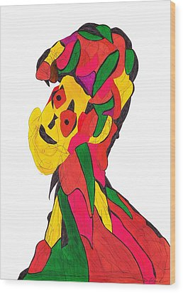 Definism Design 4 Wood Print by Darrell Black