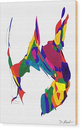 Definism Design 5 Wood Print by Darrell Black