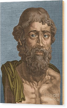 Demosthenes, Ancient Greek Orator Wood Print by Photo Researchers