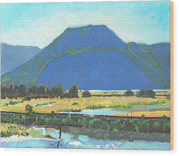 Derr Mountain Wood Print by Robert Bissett
