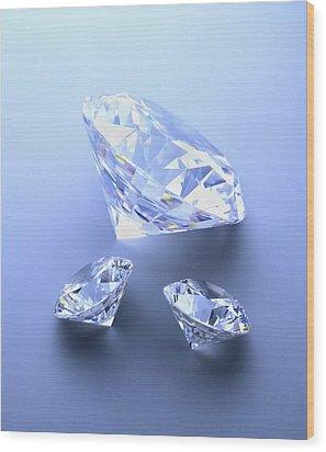 Diamonds Wood Print by Lawrence Lawry