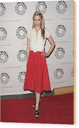 Dianna Agron At Arrivals For Glee Wood Print by Everett