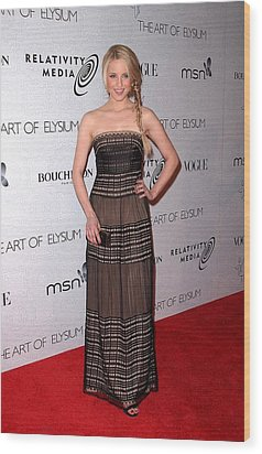 Dianna Agron At Arrivals For The Art Wood Print by Everett