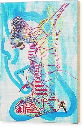 Dinka Angel Bride - South Sudan Wood Print by Gloria Ssali