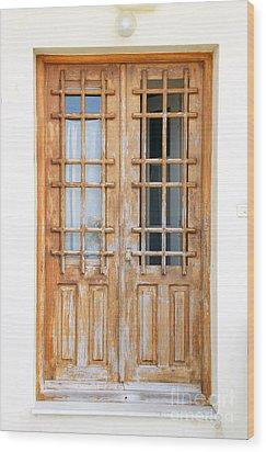 Doors In Greece Wood Print by Maria Varnalis