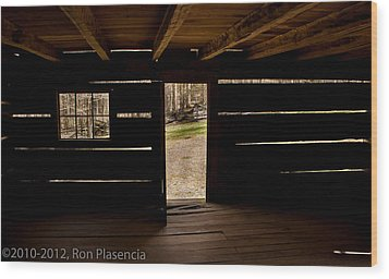 Doorway To The Past Wood Print by Ron Plasencia