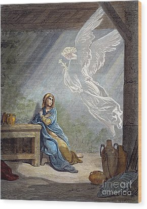 Dor�: The Annunciation Wood Print by Granger