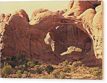 Double Arch Wood Print by Marty Koch