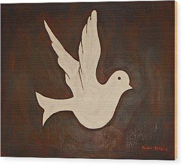 Dove Wood Print by Jeremy Cardenas