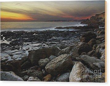 Dramatic Coastline Wood Print by Carlos Caetano