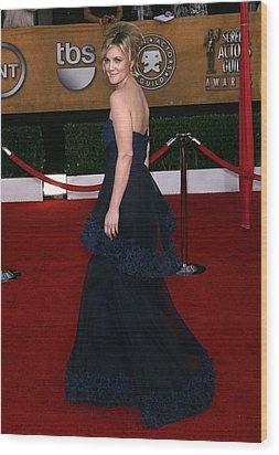 Drew Barrymore Wearing A Monique Wood Print by Everett
