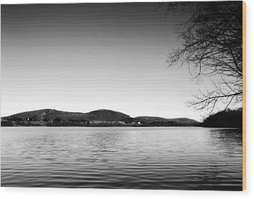 Dryden Lake New York Wood Print by Paul Ge