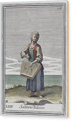 Dulcimer, 1723 Wood Print by Granger