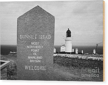 Dunnet Head Most Northerly Point Of Mainland Britain Scotland Uk Wood Print by Joe Fox