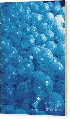 Dusty Light Bulbs Wood Print by Gaspar Avila