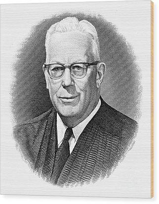 Earl Warren (1891-1974) Wood Print by Granger