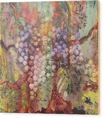 Wood Print featuring the painting Early Harvest by Karen Fleschler