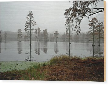 Early Morning On The Lake Wood Print