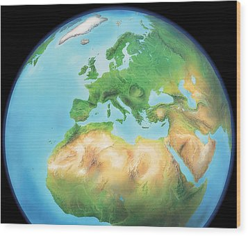 Earth, Artwork Wood Print by Gary Hincks