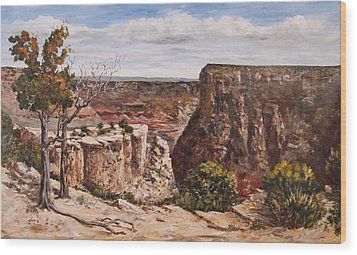 Wood Print featuring the painting Easter On The Edge by George Richardson