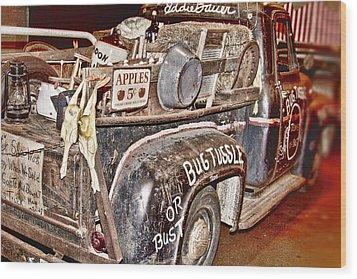 Eddie Bauer Bug Tussle Pick Up Wood Print by Douglas Barnard