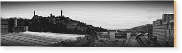Edinburgh Station Panorama Wood Print