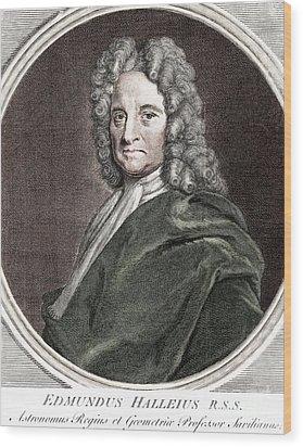 Edmond Halley, English Polymath Wood Print by Science Source