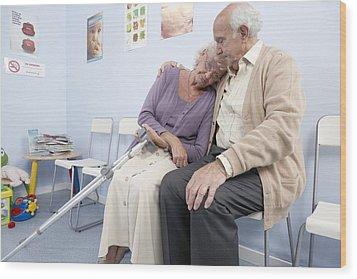 Elderly Patients Wood Print by Adam Gault