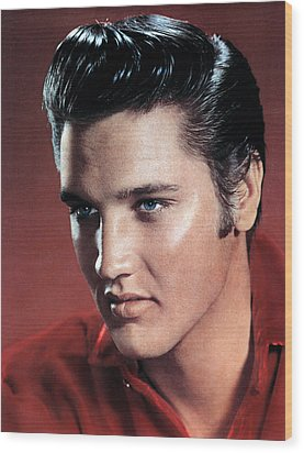 Elvis Presley Wood Print by Everett
