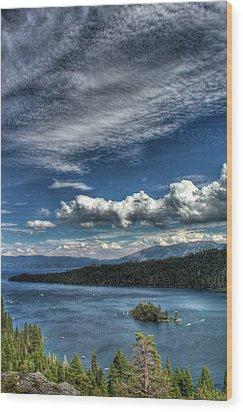 Emerald Bay Wood Print by Carlos Quiroz
