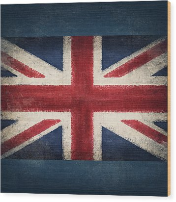 England Flag Wood Print by Setsiri Silapasuwanchai