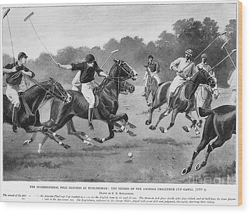 England: Polo, 1902 Wood Print by Granger