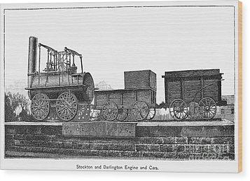English Locomotive, 1825 Wood Print by Granger