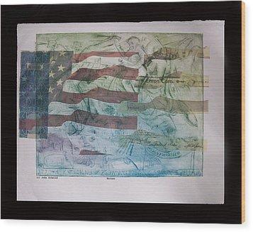 Enron Wood Print by John  Schwind