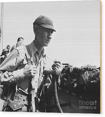 Ernie Pyle (1900-1945). American Journalist. Photograph, C1942 Wood Print by Granger
