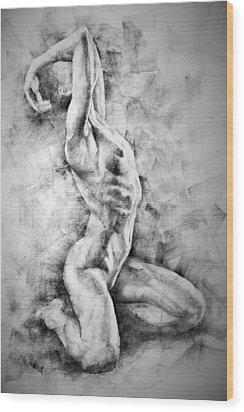 Erotic Sketchbook Page 3 Wood Print