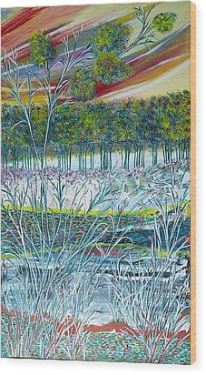 Exotic Landscape  Wood Print