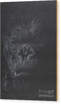 Fade To Black Wood Print by Christian Garcia