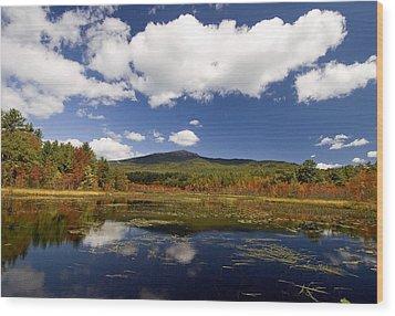 Fall Day At Perkins Pond Wood Print