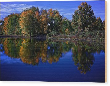 Fall Reflections Wood Print by Andre Faubert