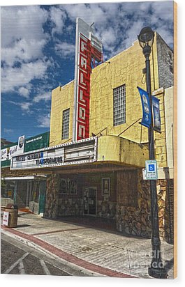 Fallon Nevada Movie Theater Wood Print by Gregory Dyer