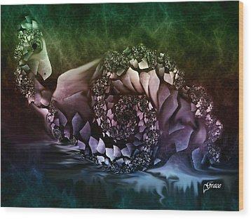 Fantasy Bird Wood Print by Julie Grace