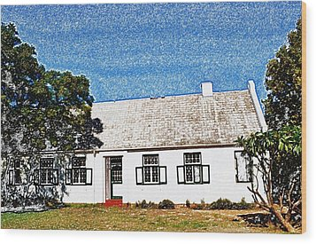 Farm House Wood Print by Werner Lehmann