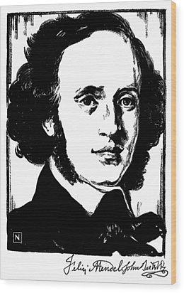 Felix Mendelssohn Wood Print by Granger